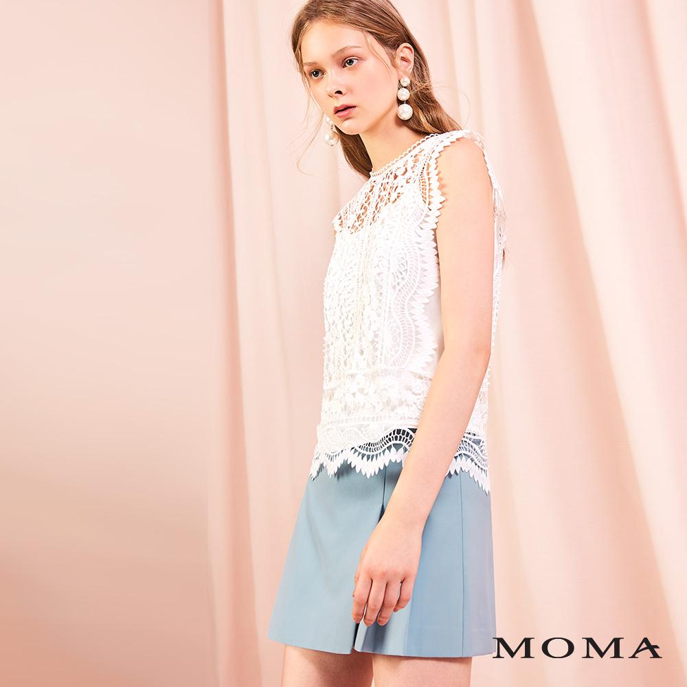 MOMA(01P116)褶飾短褲裙