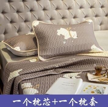 涼枕 枕芯加泰國乳膠涼席枕套套裝床上用品學生宿舍單人枕頭套一對拍2
