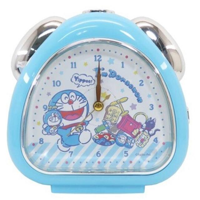 小禮堂 哆啦A夢 三角形鬧鐘 指針鬧鐘 桌鐘 時鐘 (藍 玩偶)