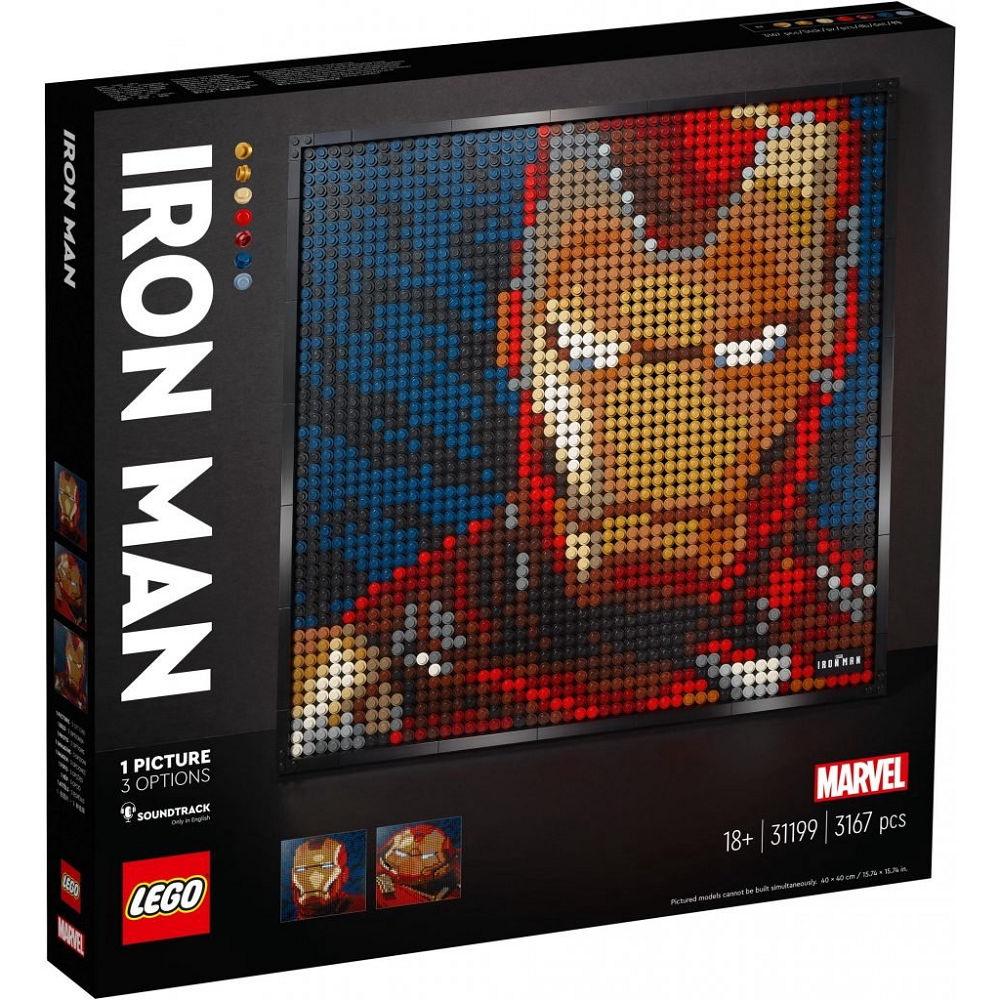 LEGO 樂高31199 藝術系列 漫威影業 鋼鐵人 馬賽克藝術風格盒組