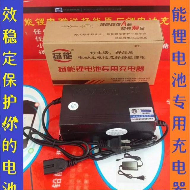 新店五折 48V 4A 鋰電池 充電器  54.6V 58.6 揚能