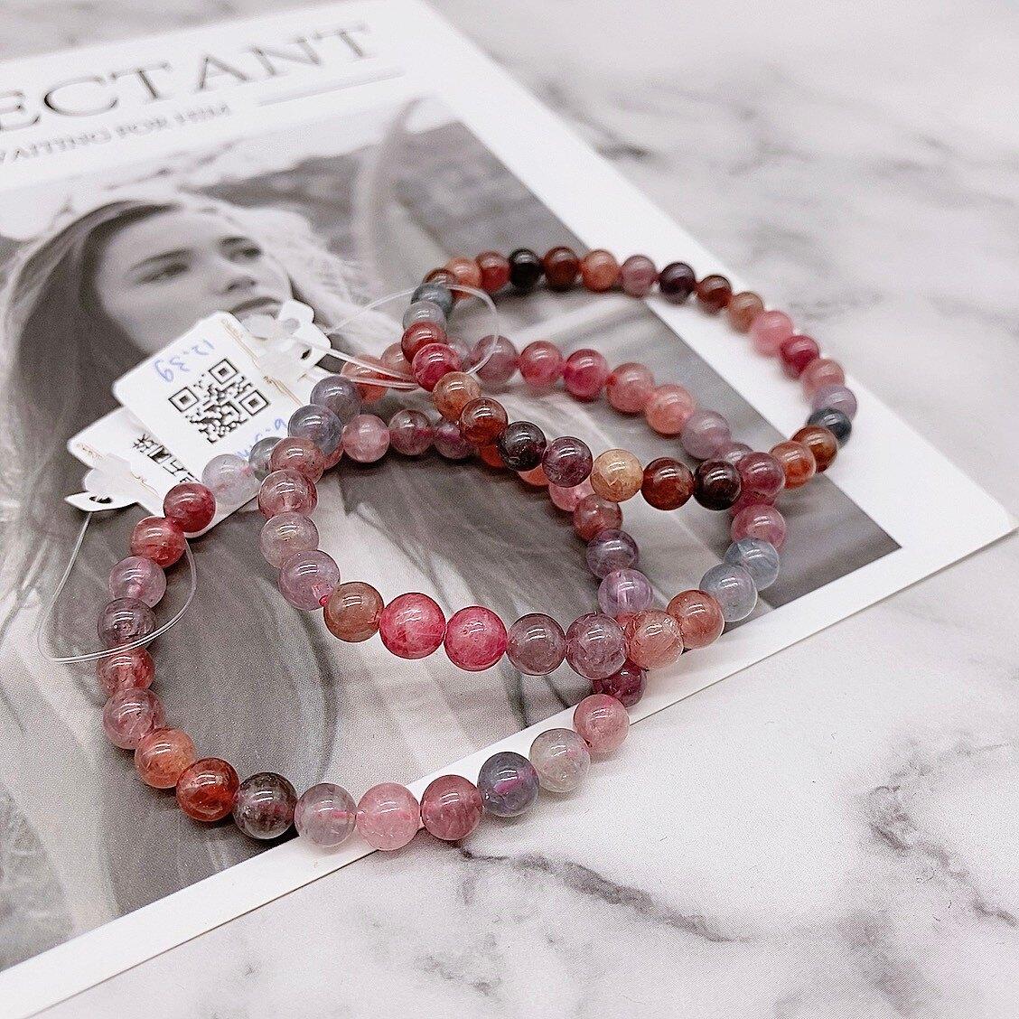Tai Fu◆ 尖晶石圓珠|水晶|紅寶石|多色尖晶石|恢復活力|積極|助成功|天然水晶