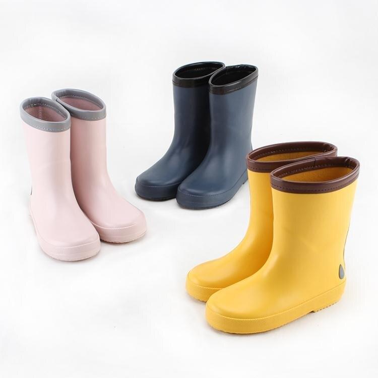 新店五折 兒童雨鞋加絨棉幼兒中大童保暖雨靴男女小童防滑秋冬套鞋小孩膠鞋