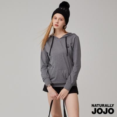 【NATURALLY JOJO】線條女神口袋帽T-灰
