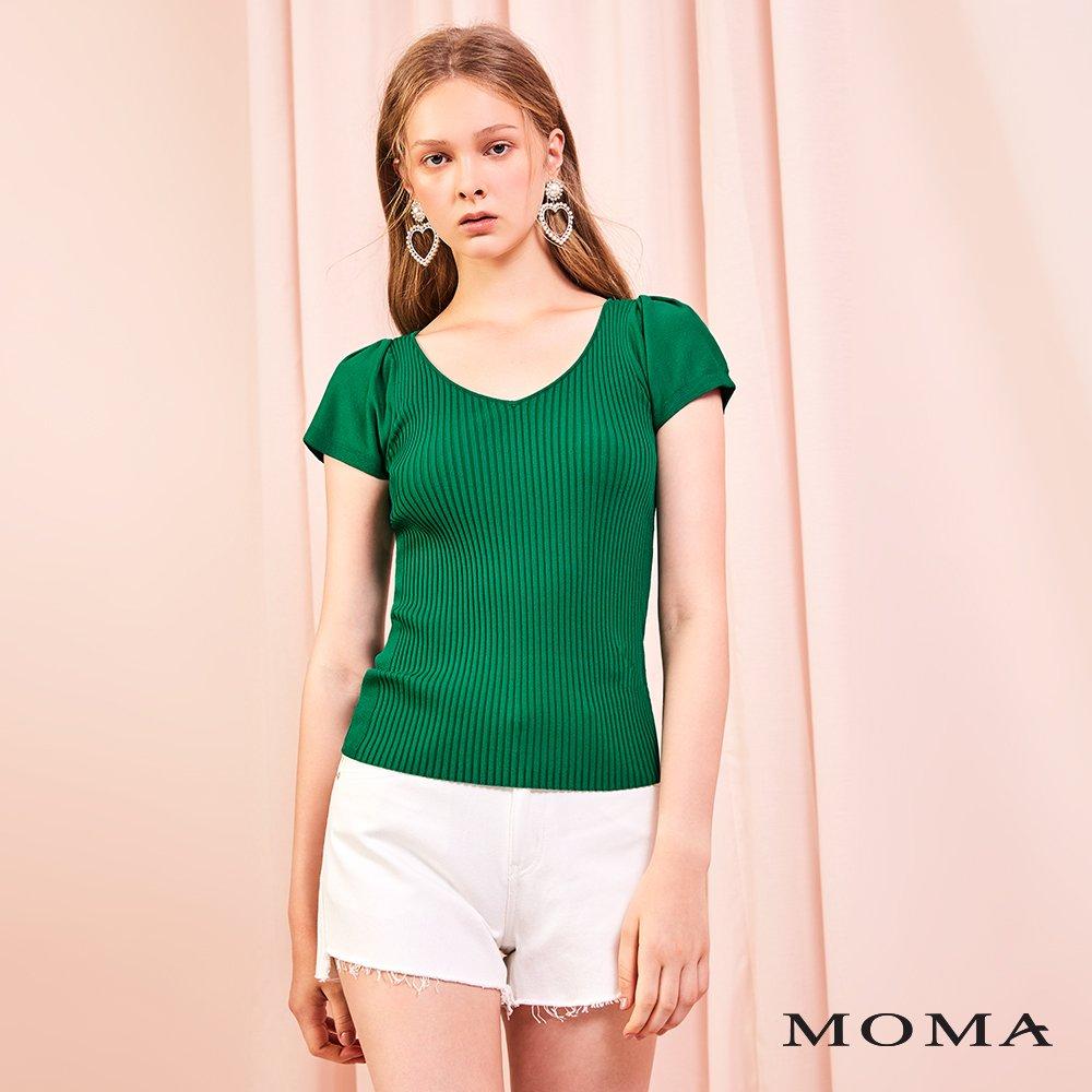 MOMA(01P110)前短後長牛仔短褲-剩餘36號