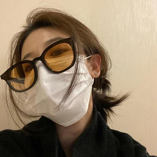 墨鏡男新款潮街拍時尚網紅黃色太陽鏡女高街眼鏡