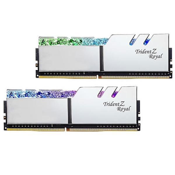 G.SKILL 芝奇 皇家戟 RGB DDR4-3600 8G*2 1.35V 超頻記憶體 銀 F4-3600C18D-16GTRS