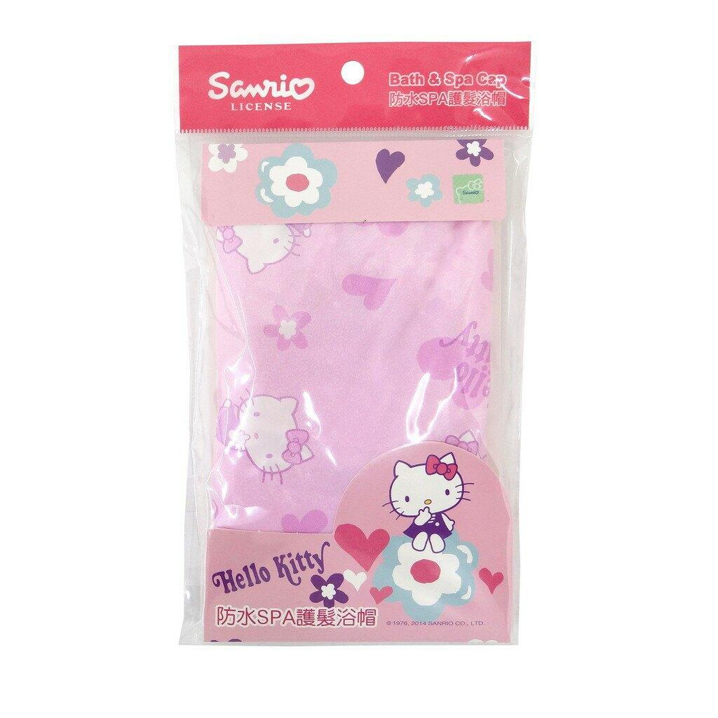【Sanrio三麗鷗】凱蒂貓印花防水護髮浴帽  台灣製
