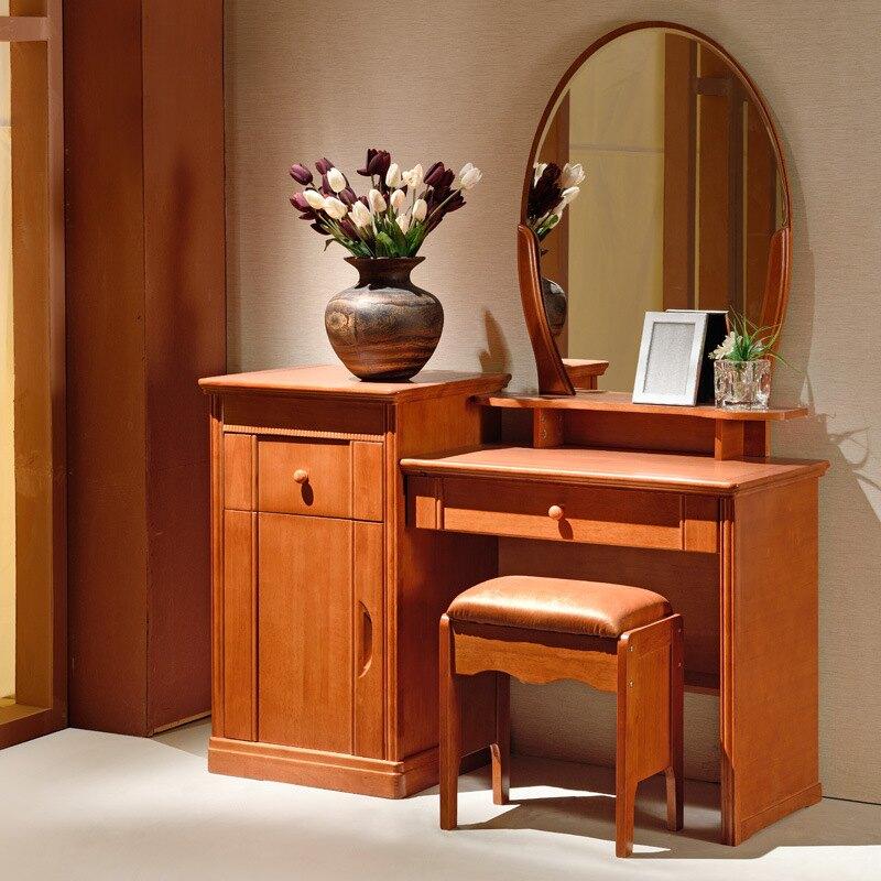梳妝臺臥室多功能中小戶型全實木化妝桌現代簡約中式經濟型化妝臺