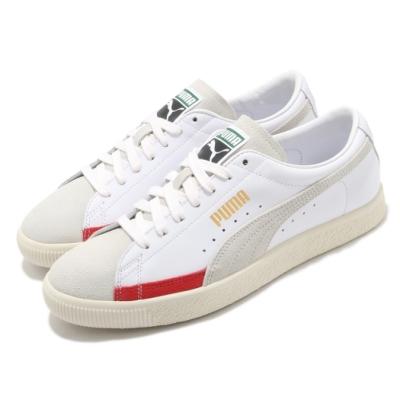 Puma 休閒鞋 Basket 90680 L 男鞋 復古籃球鞋 板鞋 麂皮 皮革 穿搭 白 米 紅 37207304