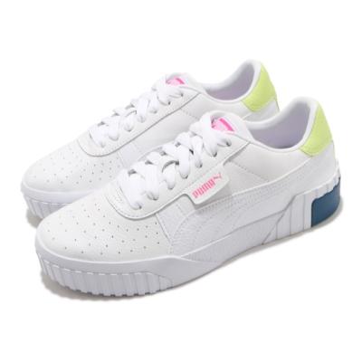 Puma 休閒鞋 Cali 復古 低筒 厚底 女鞋 海外限定 皮革鞋面 穿搭 基本款 白 粉 36915521