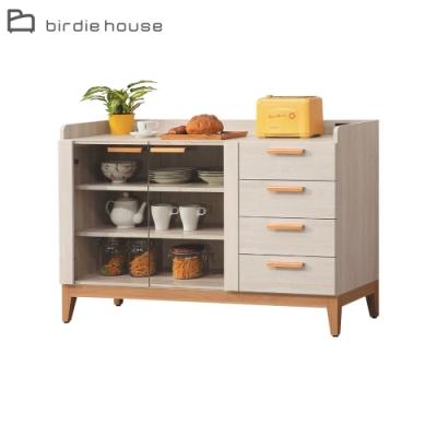 柏蒂家居-美莎4尺二門四抽餐櫃/收納置物櫃-120x40x81cm