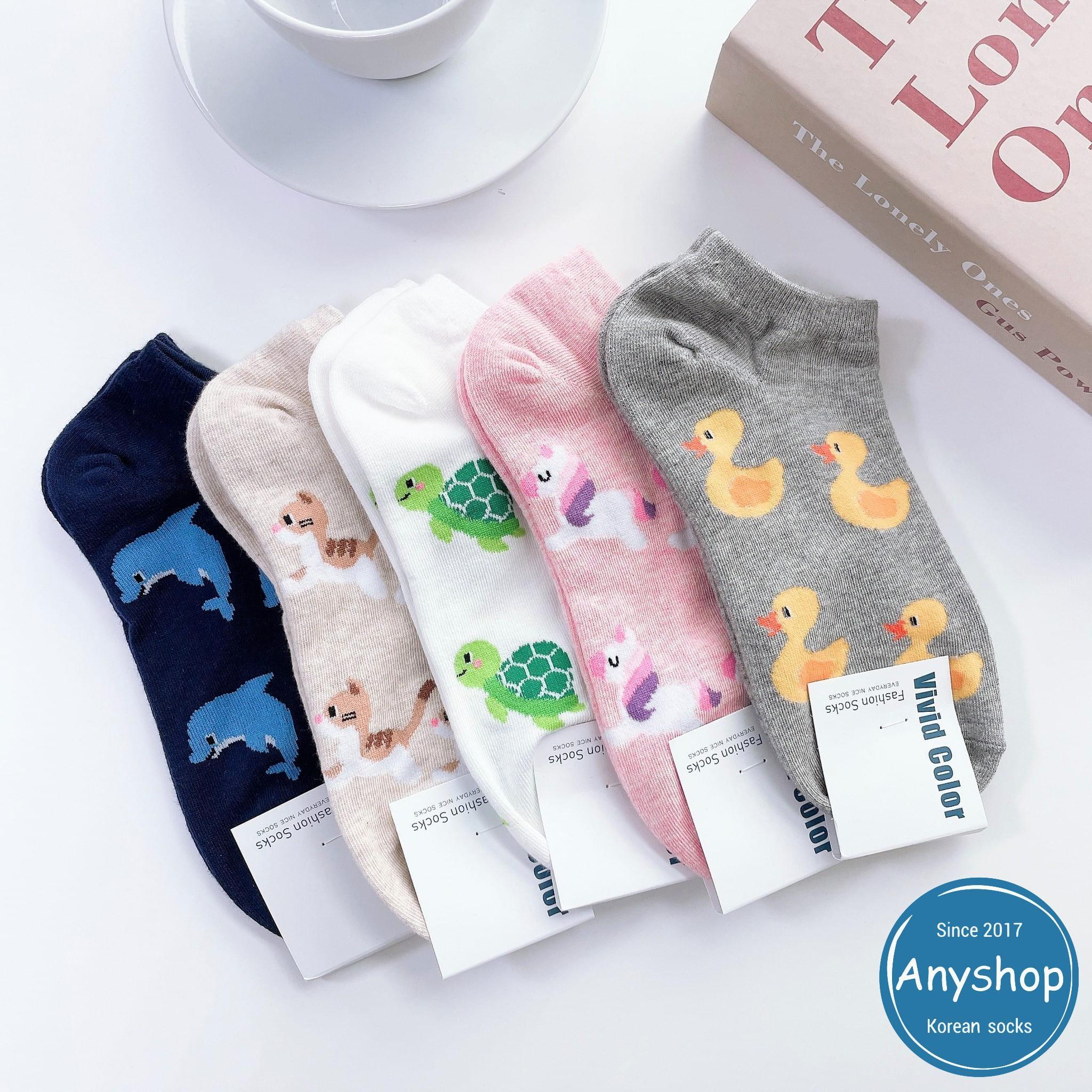 韓國襪-[Anyshop]獨角獸可愛動物短襪