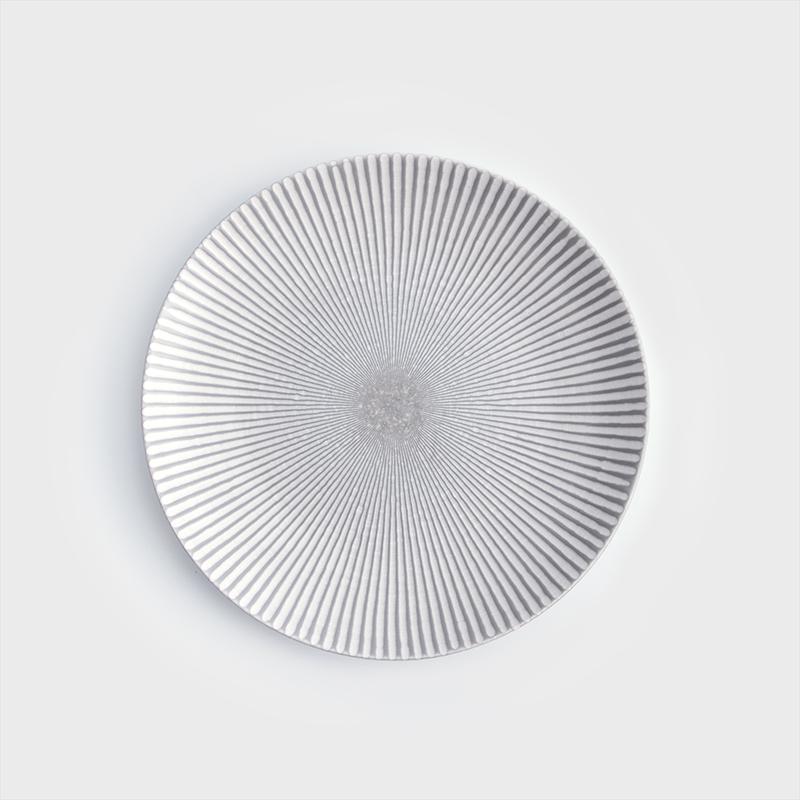 日式 光束旋紋 28cm 陶瓷圓盤|單品