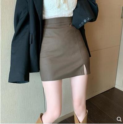 【全館85折!】緊身皮裙2021年新款包臀半身裙女春夏季高腰氣質性感小眾顯瘦短裙-莎韓依