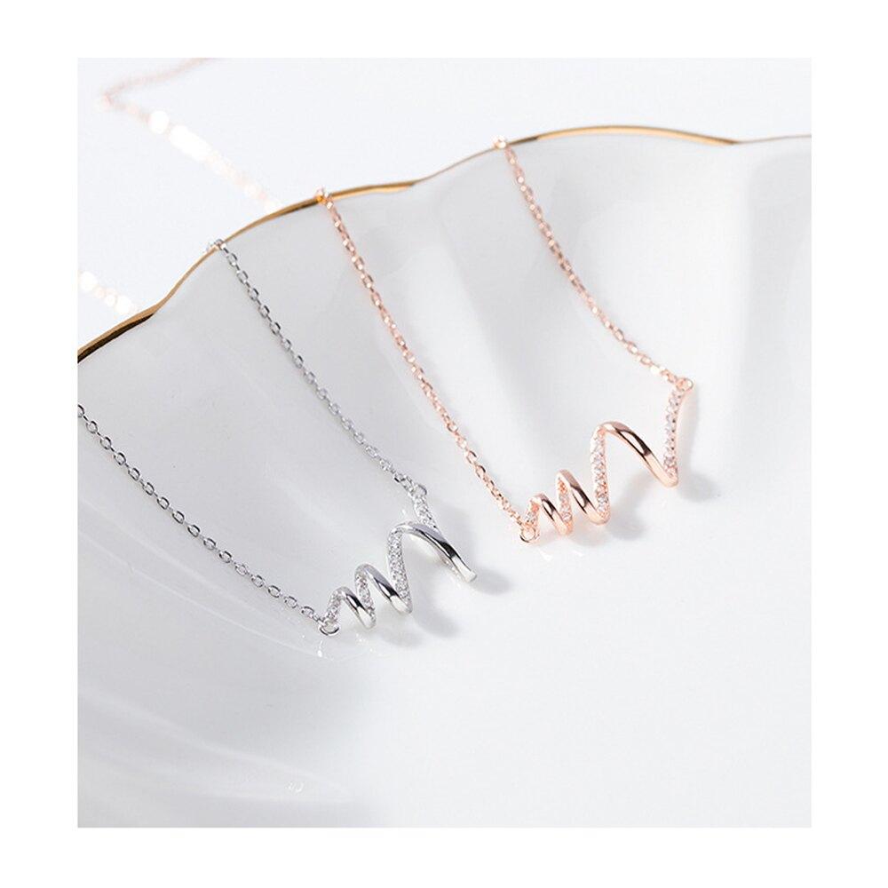 心跳項鏈女 S925純銀 網紅同款 個性 百搭 簡約  心電圖配飾  情人節禮物 項鍊 女飾品 PG20