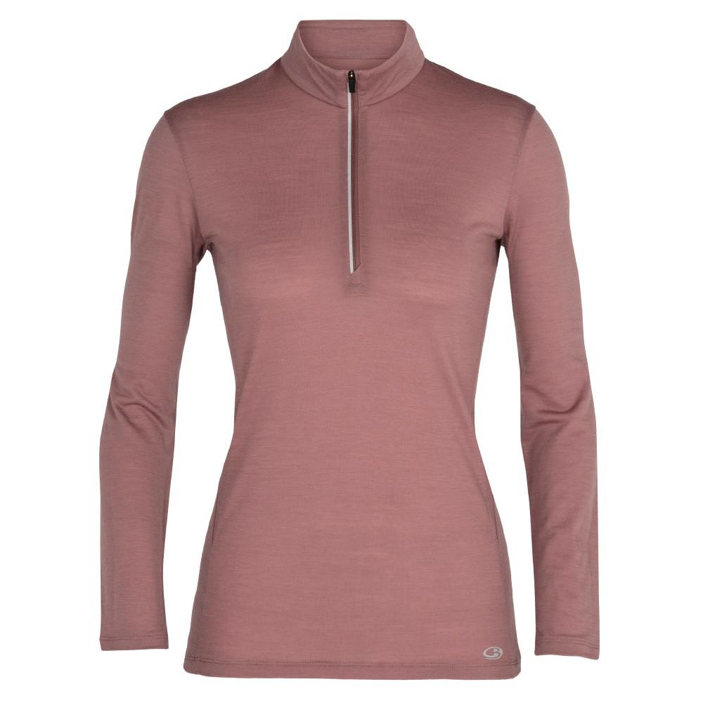 Icebreaker 女 Amplify COOL-LITE 排汗半開襟長袖上衣 GT130 粉紫 IB104815