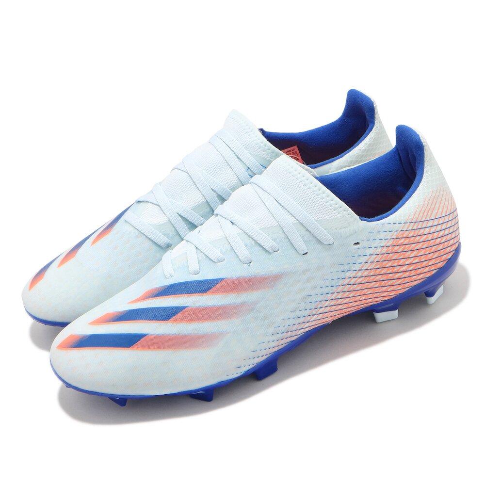 ADIDAS 足球鞋 X Ghosted.3 FG 運動 男鞋 海外限定 愛迪達 訓練 支撐 包覆 藍 橘 [EH3147]