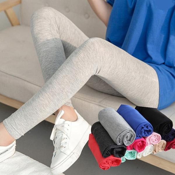 春夏莫代爾打底褲女薄外穿高腰高彈大碼顯瘦七分九分鉛筆小腳褲子 伊蘿
