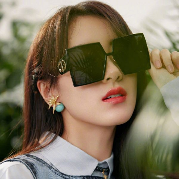《Caroline》新款韓版ins大框鏤空方形太陽眼鏡 72807