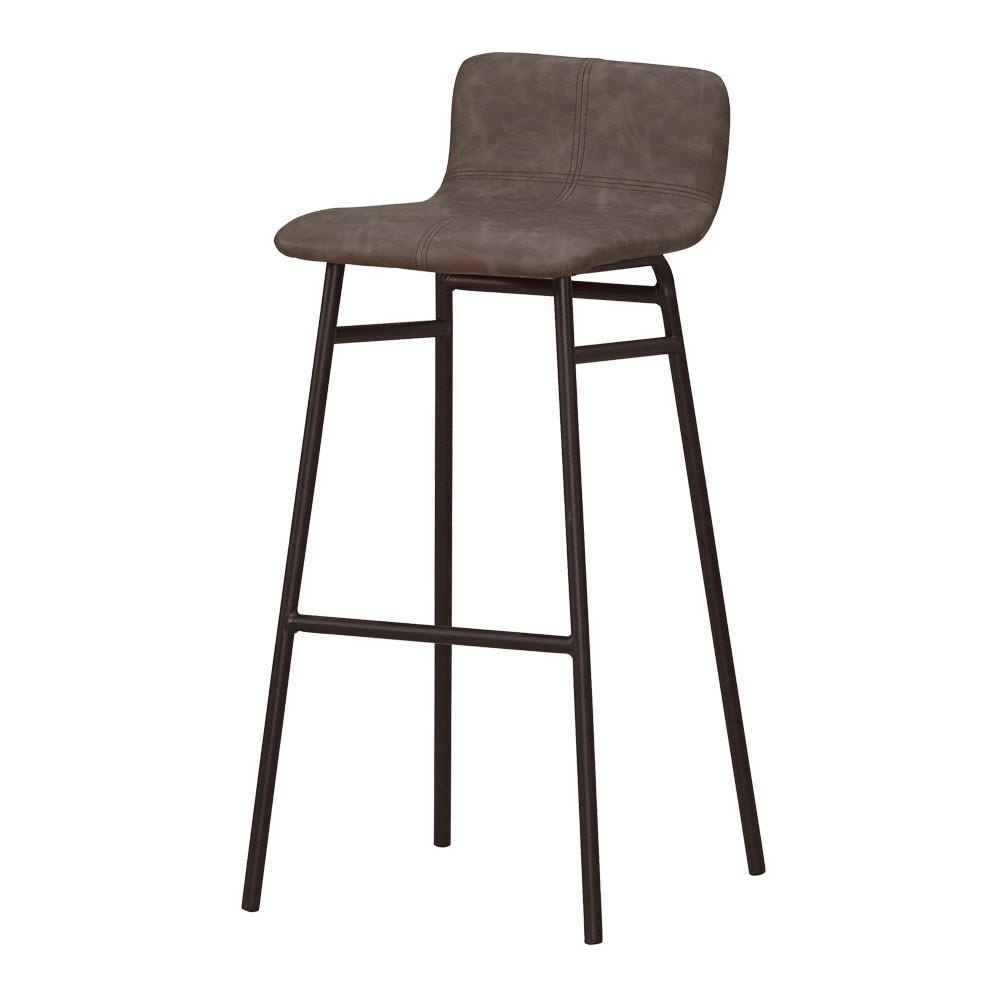 Boden-史康納工業風皮革吧台椅/吧檯椅/高腳椅(高)