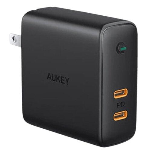 現貨『AUKEY PA-D5 63W 雙PD 2孔氮化鎵快速充電器』黑科技 筆電充電器 蘋果充電器【購知足】