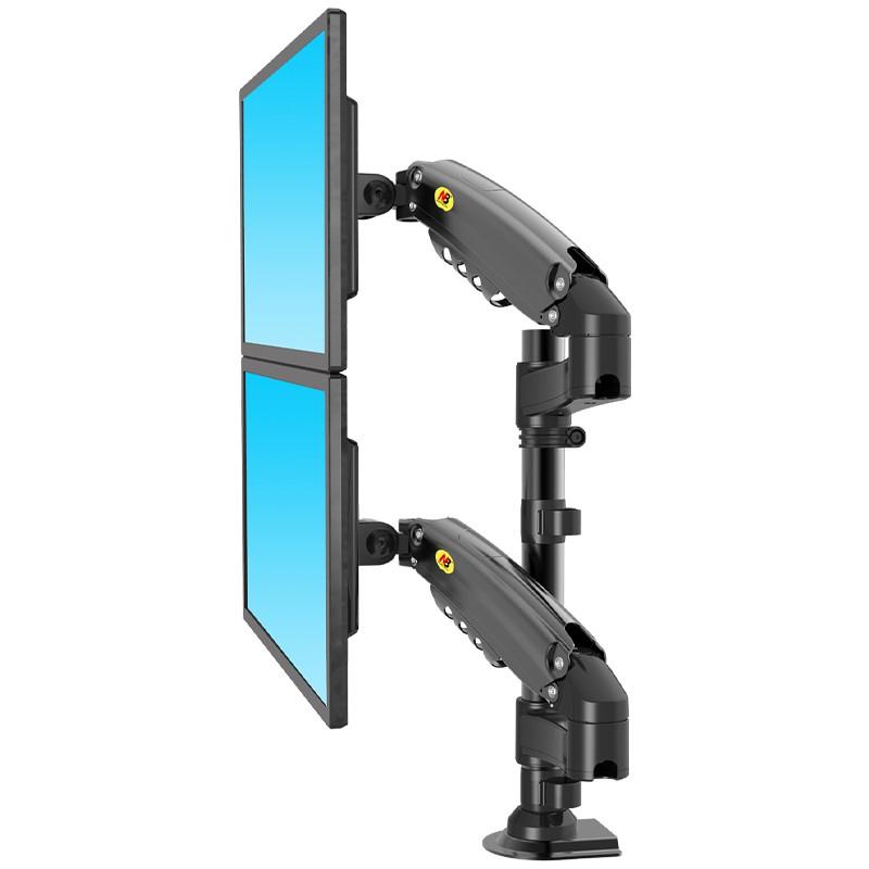 NB 17~27吋桌上型氣壓式液晶雙螢幕架(H160)-SN535