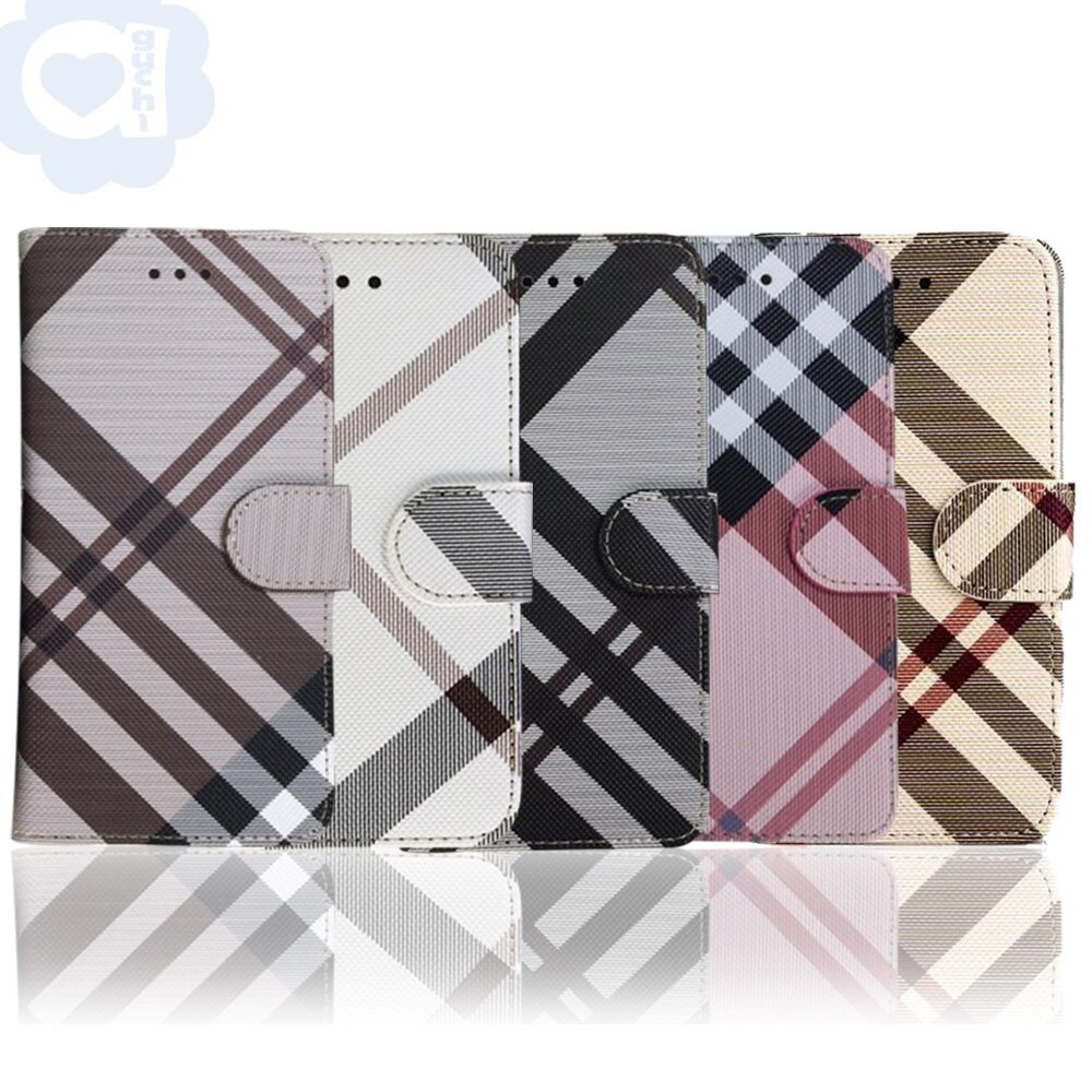 Apple iPhone 12 Pro Max (6.7吋) 英倫格紋經典手機皮套 側掀磁扣支架式皮套 5色可選
