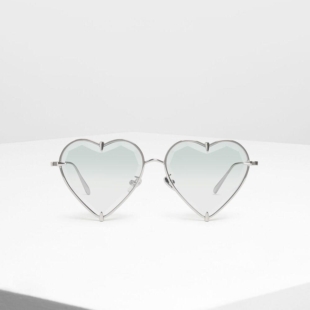 心型金屬框墨鏡