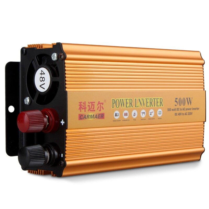 500w100w48v60v轉220v電瓶車修正弦波逆變器家用電源轉換停電寶