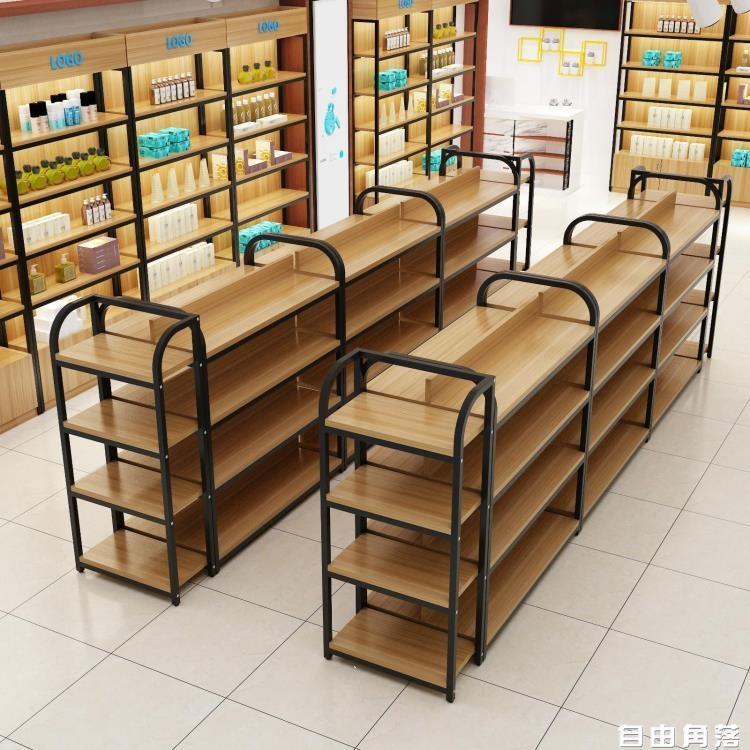 超市貨架便利店零食中島架母嬰店雙面展示台自由組合產品櫃中島櫃