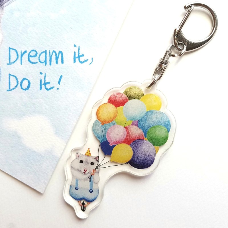 鑰匙圈- 氣球小鼠