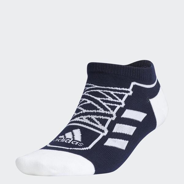 Adidas Sn Socks Low [GN8861] 男 船型襪 短襪 運動襪 舒適 趣味 鞋帶設計 深藍