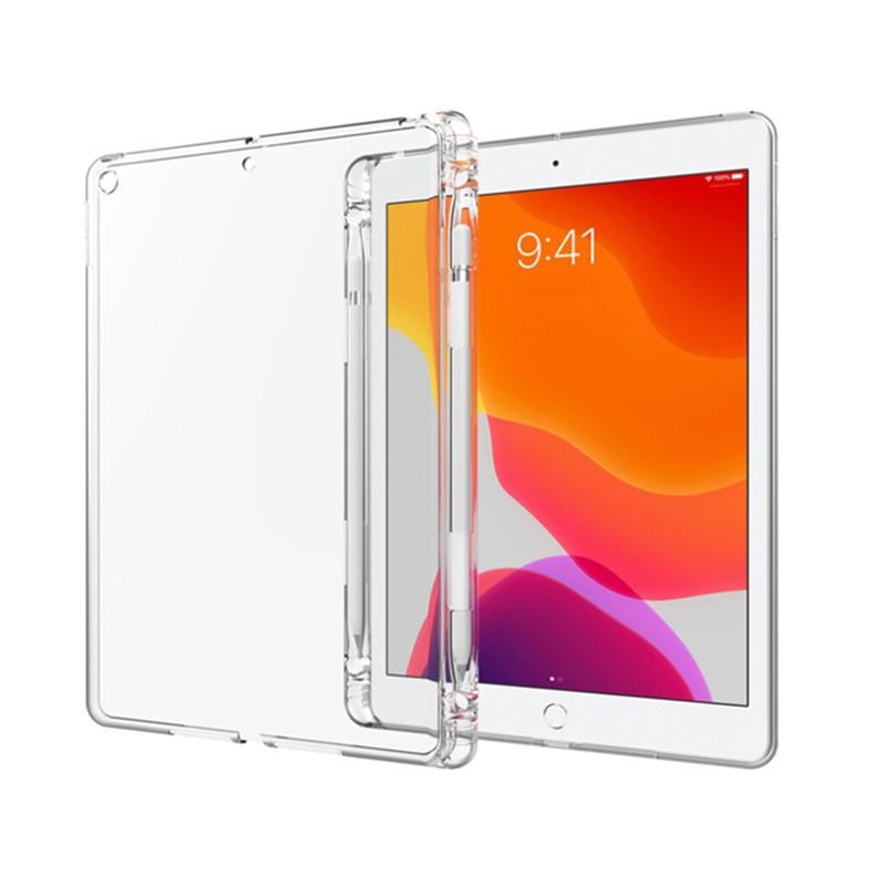 Apple蘋果2019/2020版 iPad 10.2吋附筆槽殼TPU透明清水保護殼透明背蓋 廠商直送 現貨