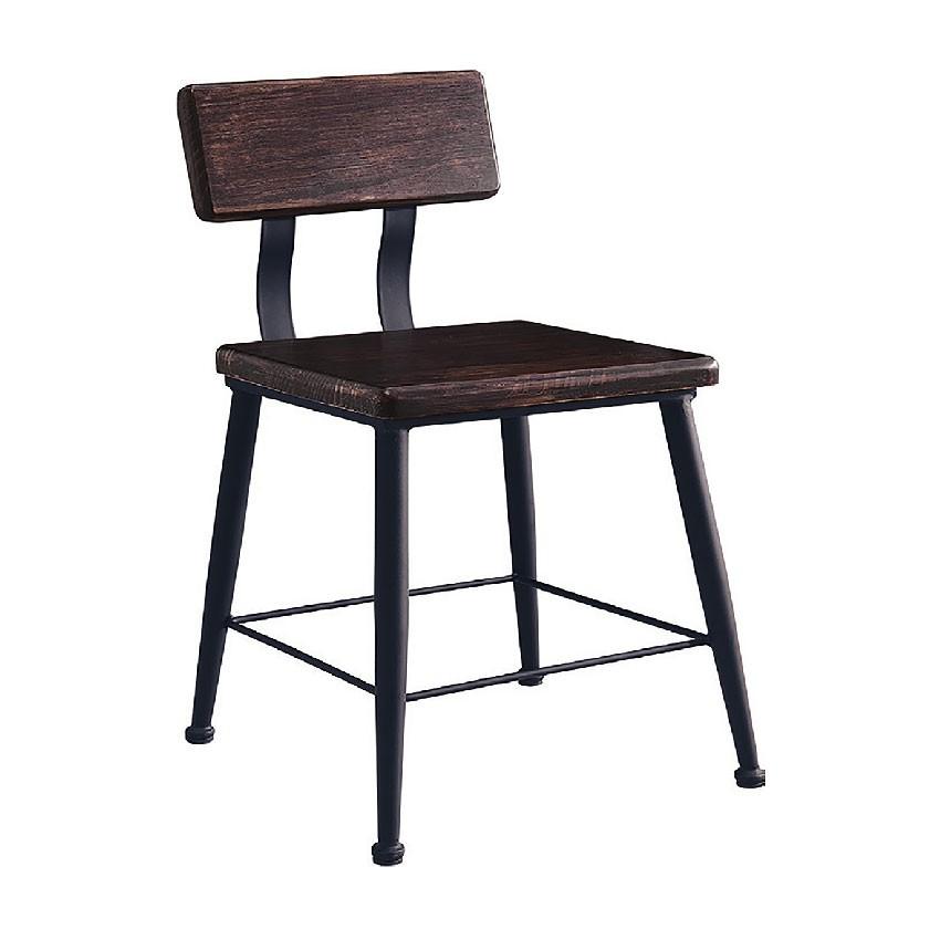 【45cm餐椅-E765-6】餐椅 北歐工業風 書桌椅 長凳 實木椅 皮椅布椅 餐廳吧檯椅 會議椅【金滿屋】