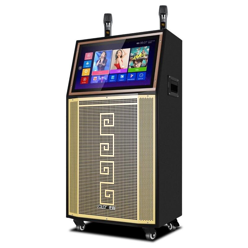 ST1908廣場舞音響帶顯示屏22吋移動拉桿跳舞視頻大功率大音量播放器帶屏幕無線話筒演出音響戶外音箱K歌