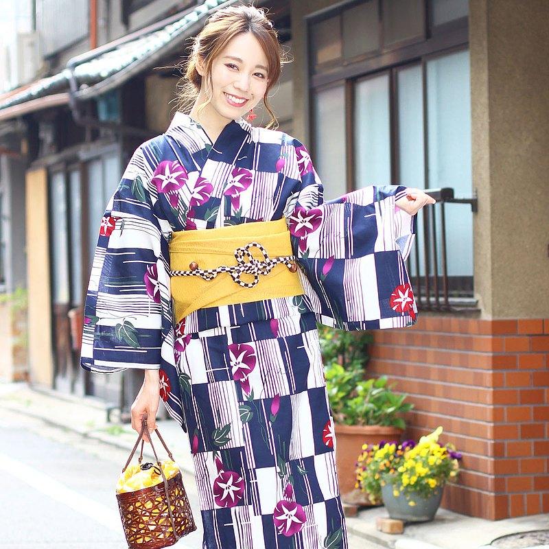 日式浴衣和帶蛋2件套(S / F)尺寸x03-c1-3
