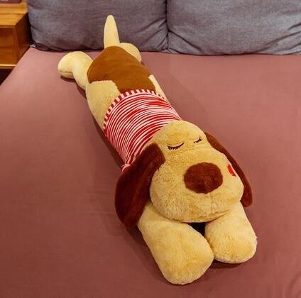 趴趴枕 大號趴趴狗長條枕女生側睡夾腿抱枕床上枕頭可愛卡通靠枕趴趴枕
