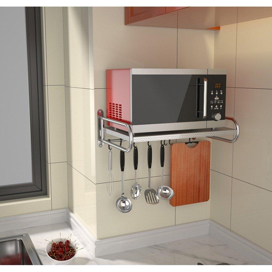 廚房用品家用大全家居壁掛式收納304不鏽鋼烤箱微波爐架子置物架 艾琴海小屋