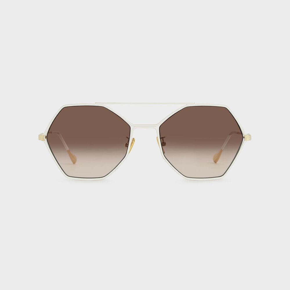 幾何金屬框墨鏡