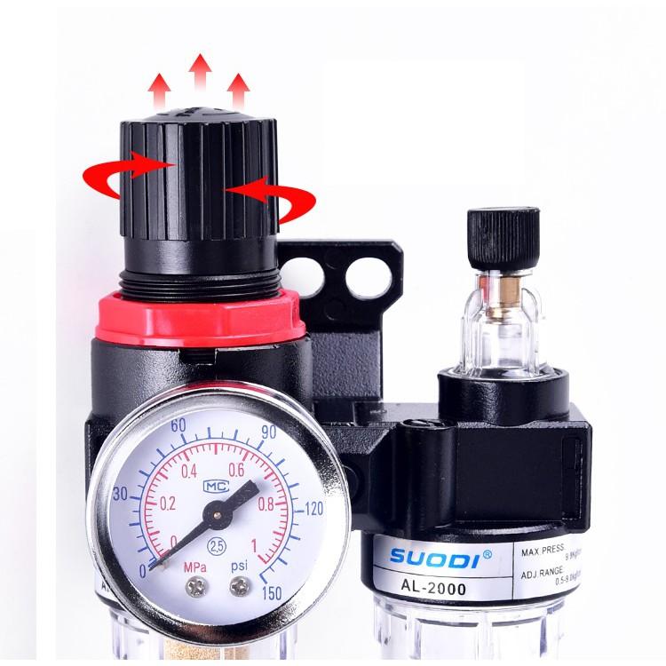 油水分離器SUODI油水分離器AFC2000二聯件空氣過濾器氣源處理器AFR+AL2000