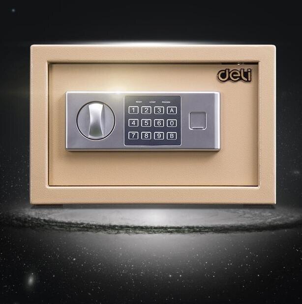 保險箱 小型迷你保險箱密碼防盜保管箱可入墻床頭衣柜隱藏嵌入式TW【快速出貨八折下殺】
