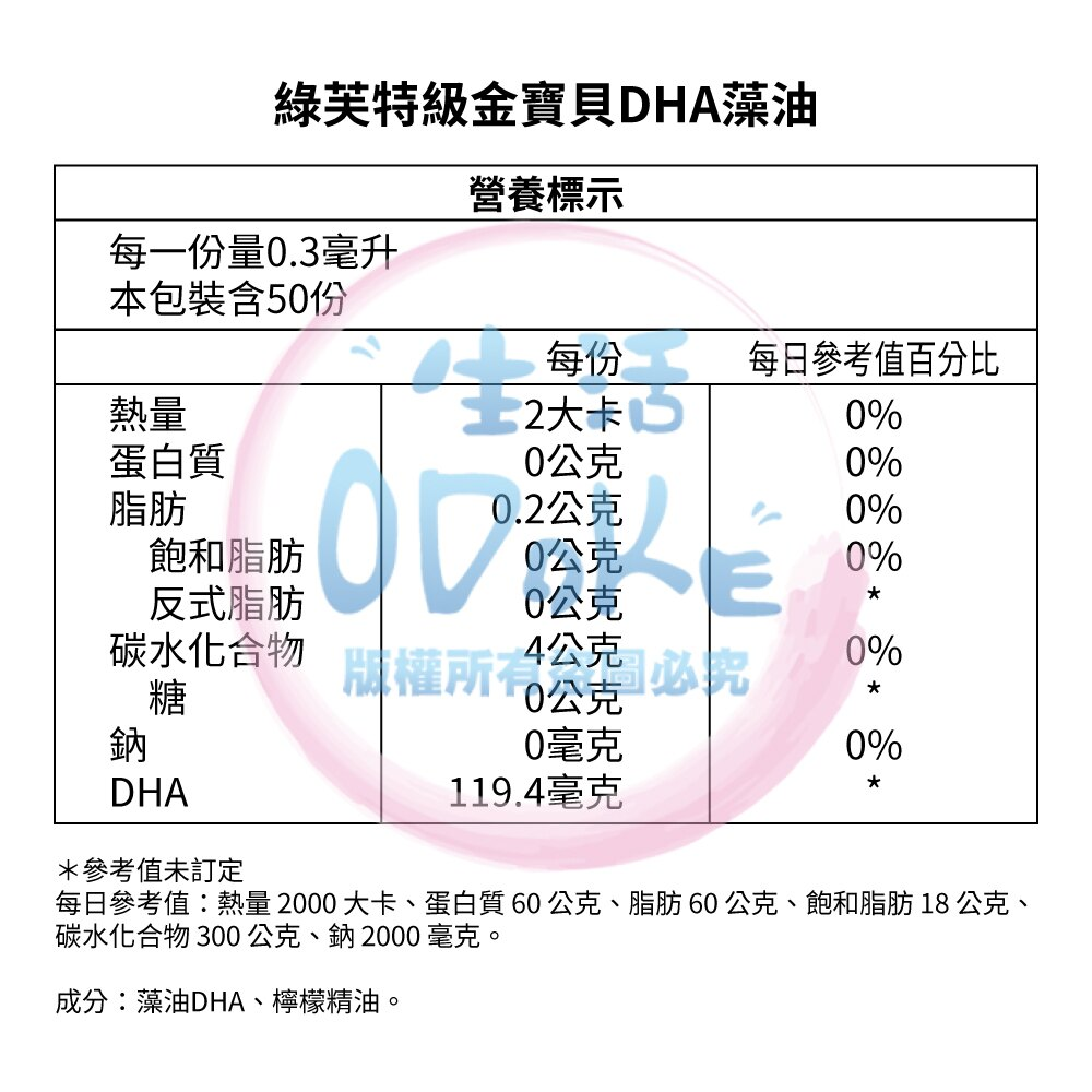 Spring Leaf 綠芙特級 金寶貝DHA藻油 (15ml/瓶) 藻油 DHA 滴液 滴劑 兒童適用 【生活ODOKE】