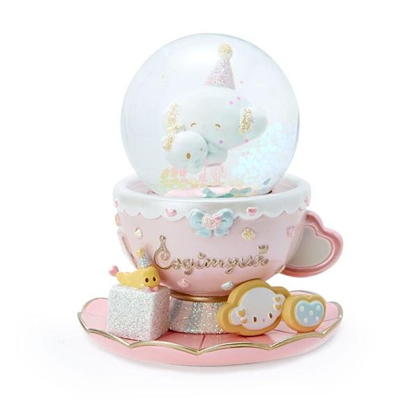 小禮堂 小麥粉 迷你造型玻璃雪球 聖誕雪球 雪花球 水晶球 (粉 午茶派對) 4550337-39517
