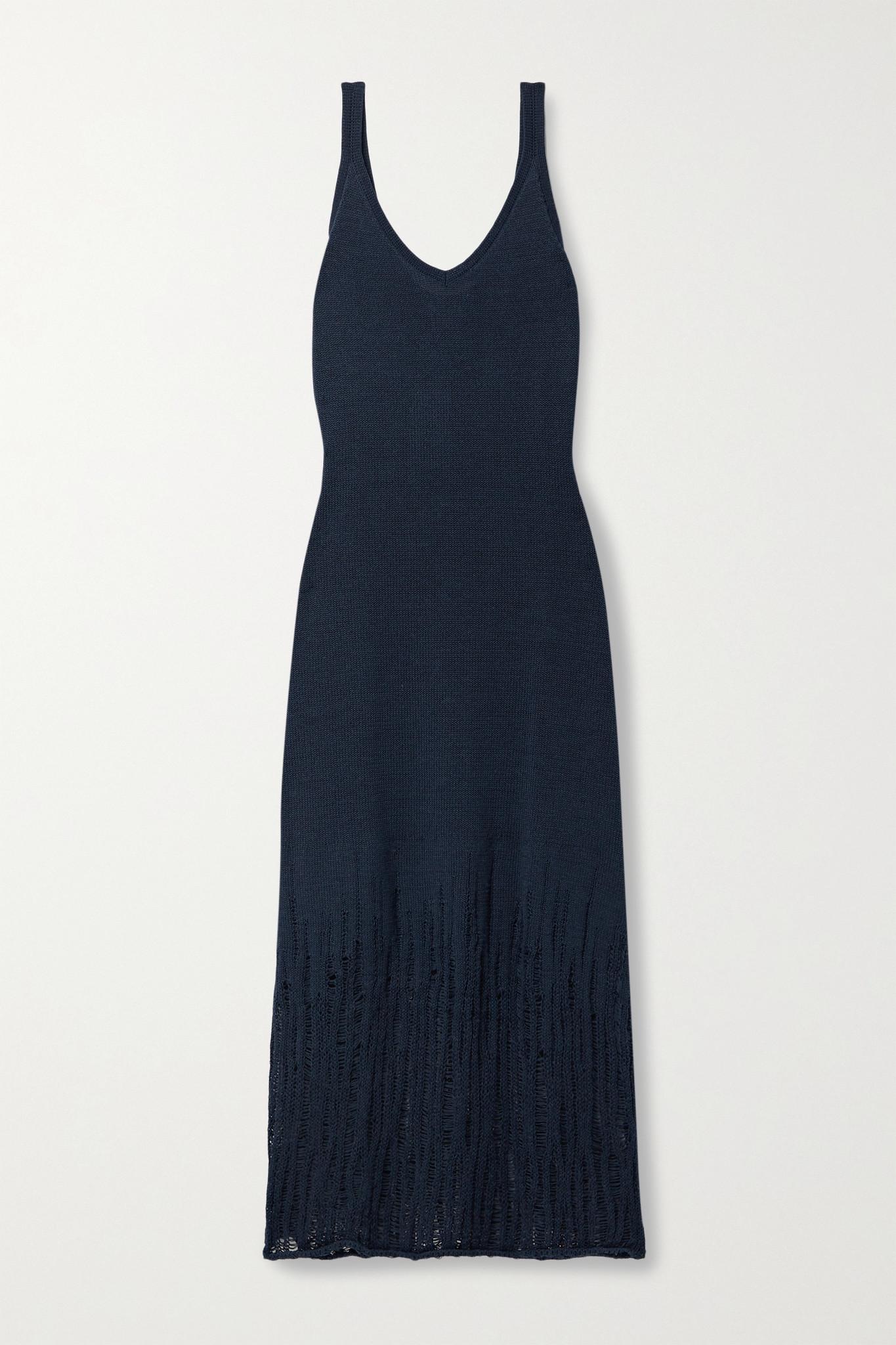 JASON WU - 针织中长连衣裙 - 蓝色 - large