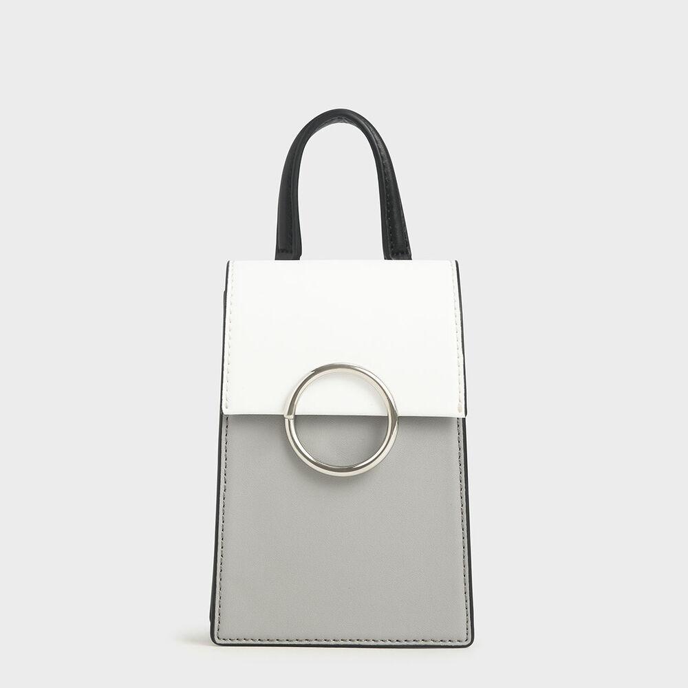 雙色圓環手提包