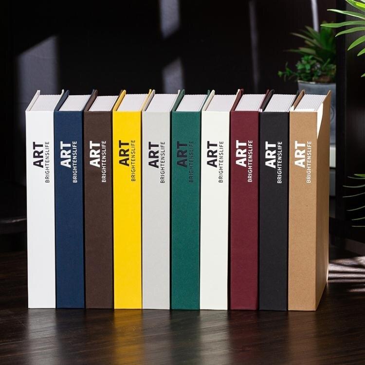 仿真書 現代北歐風簡約假書仿真書樣板房客廳道具書櫥窗書房創意擺設書盒