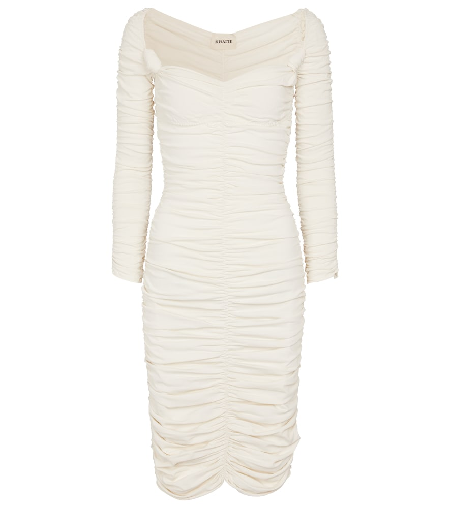 Charmaine ruched midi dress