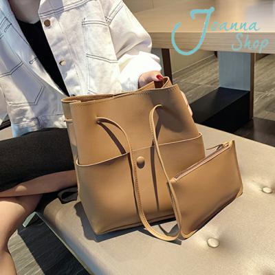 高級感包包一買兩用氣質簡約時尚水桶肩背包2-Joanna Shop