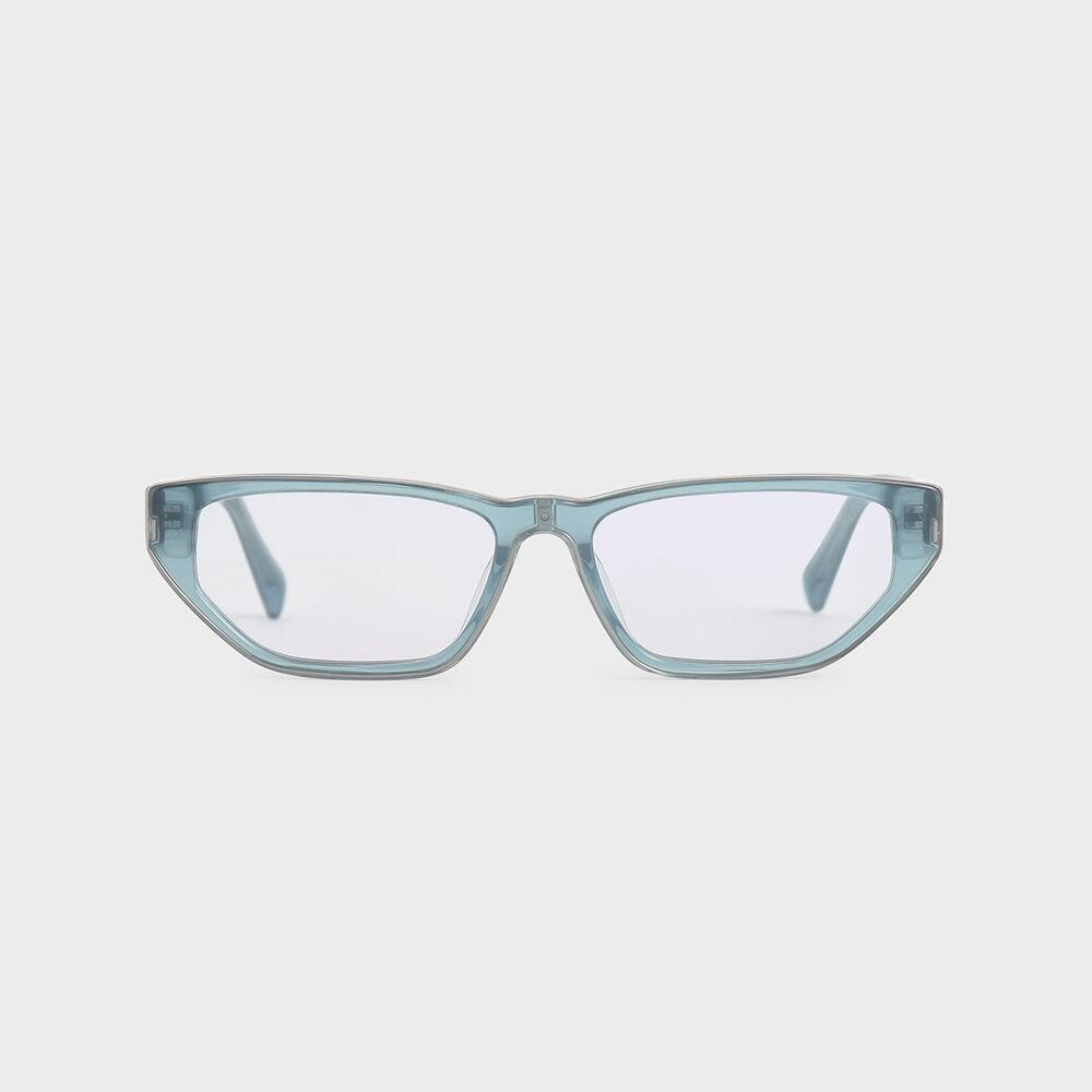 細貓眼膠框墨鏡